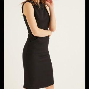 BODEN MARTHA SHIFT PENCIL BLACK DRESS 4 LONG